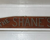 Last Name Plaque Rope Letters on Wooden Plaque Nautical Decor Outdoor Sign MADE TO ORDER