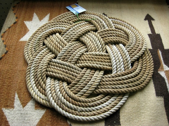 Items Similar To Tan Khaki Amp Brown Throw Rope Rug Soft