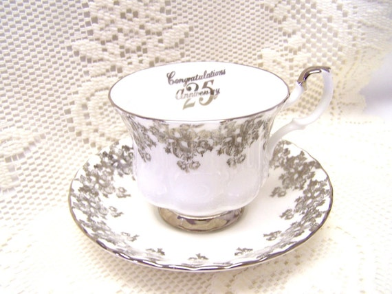 RESERVED Royal Albert 25th Anniversary Cup and Saucer