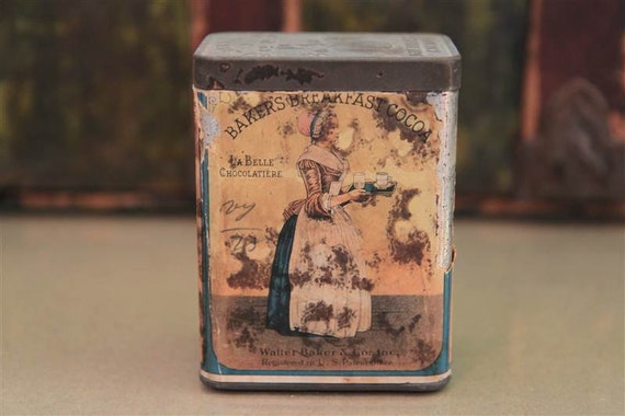 Early Baker's Breakfast Cocoa Tin with Litho Label