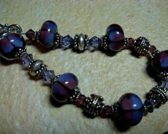 purple lampwork bracelet