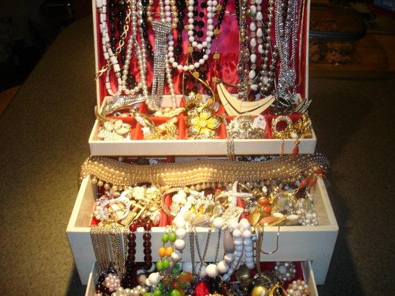 Vintage Estate Costume Jewelry Lot: Over 120 maker marked