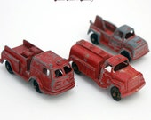 Red Three Tootsie Toy Cars LOT Diecast 1960s Collectible Rare Find Made in the usa america