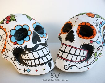 Custom Wedding Decoration Day of the Dead Skull Bride and Groom