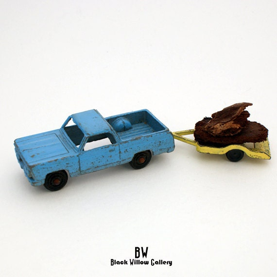 Two Tootsie Toy Cars Truck &  Trailer Diecast 1960s Collectible Rare Find Made in the usa america