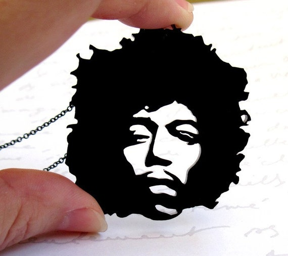 Jimi Hendrix necklace - Music Jewelry - Image Jewelry - Rock Jewelry - Fun Jewelry - Rock n Roll Jewelry - Gift For Her