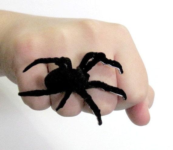 baronyka large spider ring statement jewelry creepy