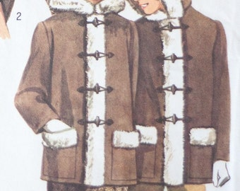 Vintage sewing pattern Simplicity 5216  - boys or girls car coat - 1972, Free Shipping
