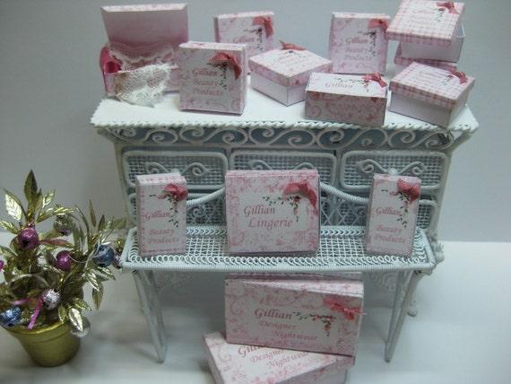 Dollshouse Miniatures. Ladies Lingerie Boxes PDF File Only