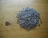 Aluminum Jump Rings, 18g, 3/16 ID, 100 Rings, Saw Cut, Free Shipping