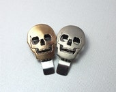 Men: Dad, Boss, Brother, Husband, Boyfriend Golden Skull Money Clip for Him