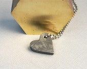 Out Of This World Meteorite Heart Pendant