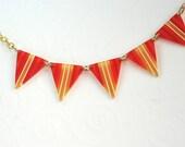 Hot Summer Fun Pennant Necklace