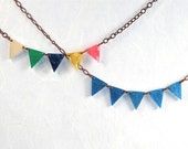 Spring Colors Bunting Necklace