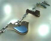 Modern Bird Lovers Titanium Bracelet Spring Inspired