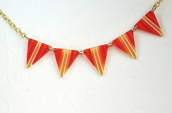 Hot Summer Fun Pennant Necklace