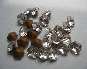 Vintage Swarovski Crystal Rhinestones 6 sided 6mm QTY - 8