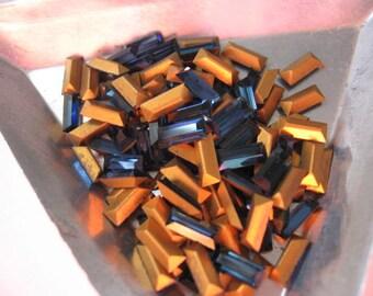 Vintage Swarovski Dark Sapphire Baguettes 7x3mm QTY - 7 ALMOST GONE