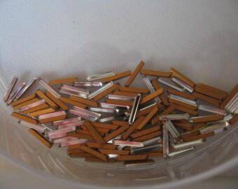 Vintage Swarovski Crystal Baguettes 7.5x1.5mm QTY - 2