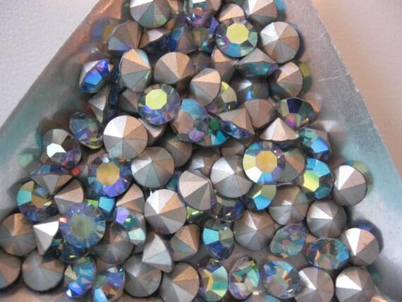 Vintage Swarovski Light Sapphire AB Rhinestones 28ss 5.96-6.14 ART 1100 QTY - 12