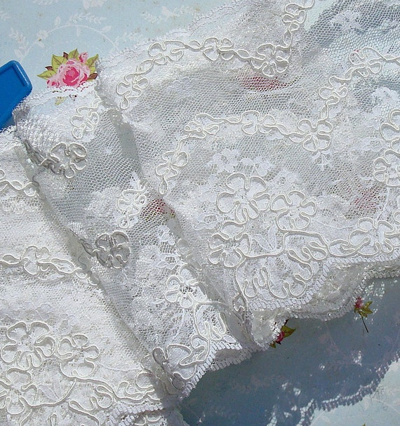 Bridal Lace Wedding Lace White Alencon Lace Trim