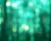 Emerald, Spring, Summer,   Woodland,Green, Turquoise, Coral, , Mint, Abstract Photography