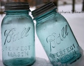 Blue,  Ball Perfect Mason Jars - 2