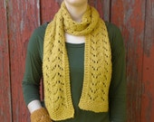 Fall Colors Organic Cotton Scarf and Wrist Warmer Set