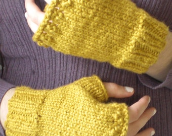 Marigold Organic Cotton Fingerless Gloves