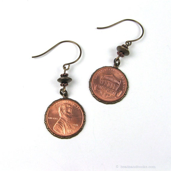 Penny Earrings (Coin Jewelry)