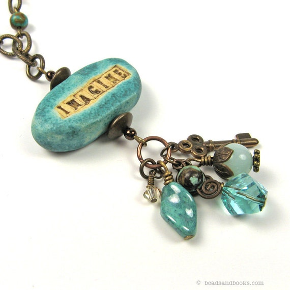 Word Necklace: Imagine Necklace, Inspirational