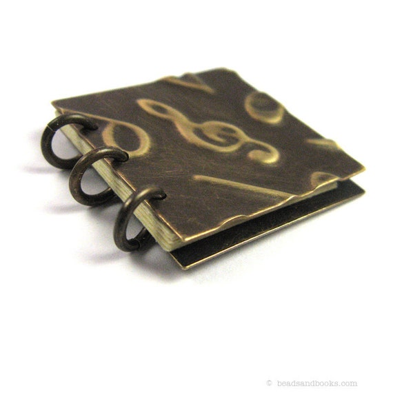 Music Journal: Mini Music Note Book Ornament with Treble Clef (Notebook for Musician, Teacher Gift)