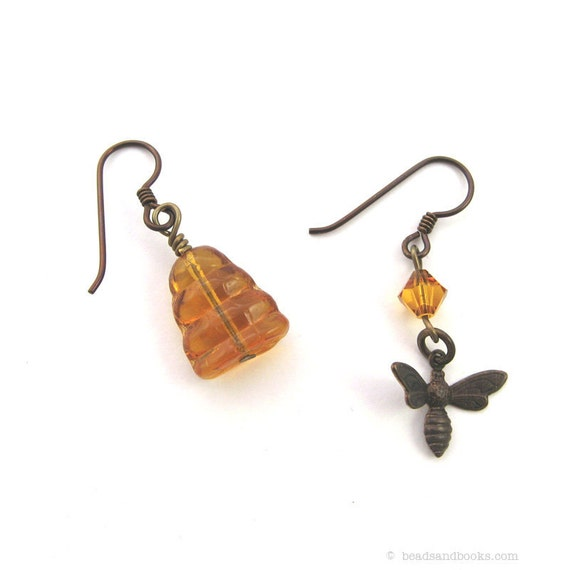 Bee Earrings  (Bee & Hive)
