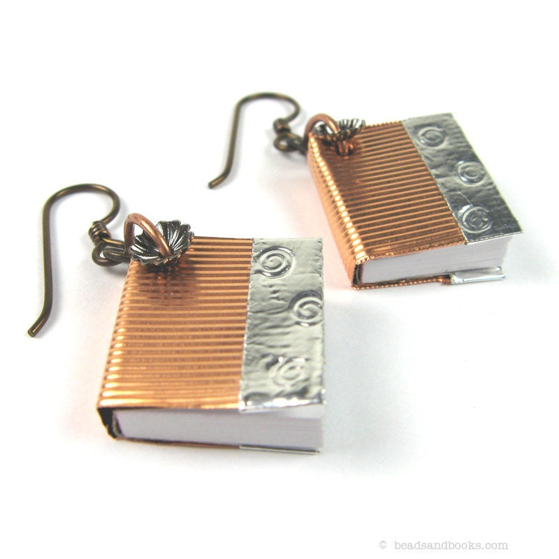 book jewelry book earrings for librarians teachers writers