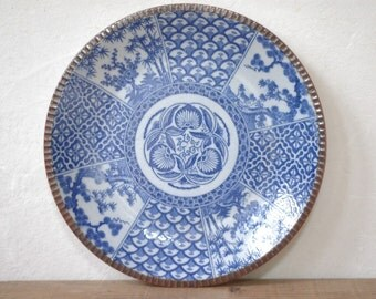 Large signed Imari charger 803, 40 cm, copper plate printing, 1870s