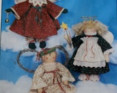Angelic Trio 15 inch rag dolls pattern My sister and I patterns Vintage never been opened