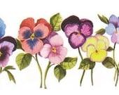 Pansy Watercolor  Print