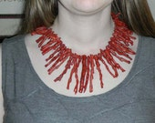 Rough Red Coral Necklace