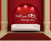 Marry Me... Vinyl Decal Wall Art