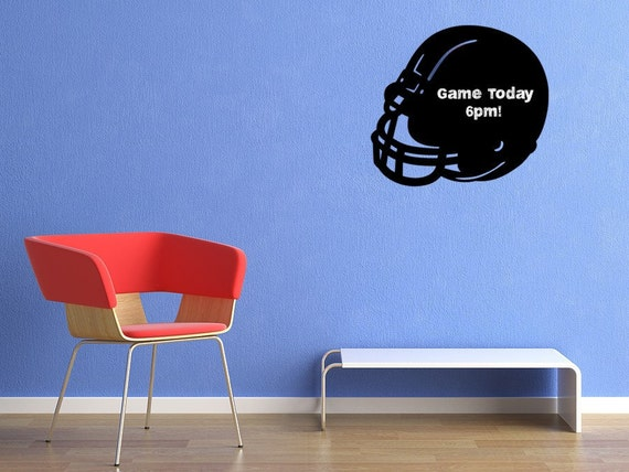 Football Chalkboard Vinyl Decal Helmet
