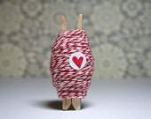 Red and White Bakers Twine - 30 yards