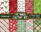 Christmas Digital Paper Pack Collection-Download and Print (TIFNYC-XMASPP-1)
