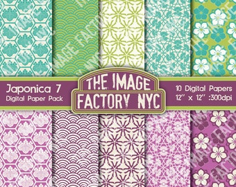 Japanese Motif Inspired Digital Paper Pack Collection-Download and Print (TIFNYC-AOPP-7)