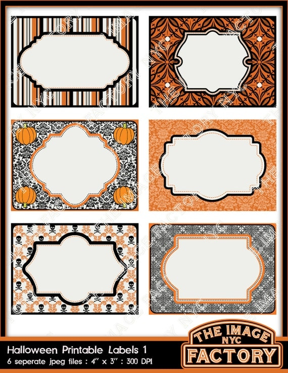 Items similar to Halloween Printable Labels & Tags, for gift tags ...