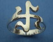 15 mm Islamic Buddha Swastika Ring