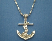 Nautical Anchor Silver Pendant Necklace