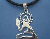 Silver Yoga Necklace - Meditation Jewelry