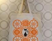 Chatty Nora tote - bag British 70's folk art style