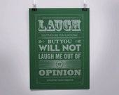 Stand By Your Opinions - Jane Austen quote poster