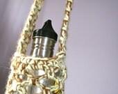 Mint Chocolate Crochet Festival Hippie Boho Water Bottle Sack Bag Case Holder